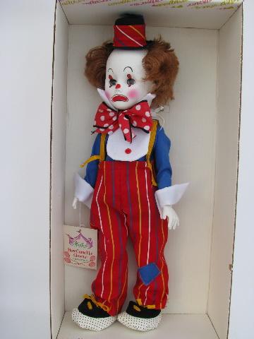 Jethro clown doll mint in vintage Effanbee box