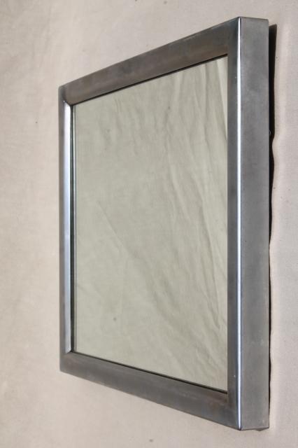 midcentury modern vintage industrial washroom mirror w
