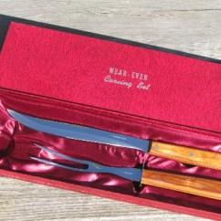 Kitchen Knife Sets For Sale Origami Folding Island Cart Mid-century Vintage Wear-ever Carving And Fork Set ...