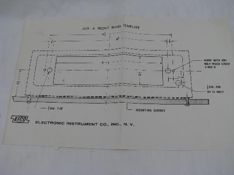 Original EICO HFT-92 vacuum tube AM-FM stereo radio tuner