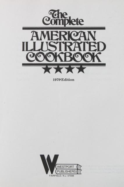 retro 70s 80s vintage cookbooks, New McCall's Cook Book