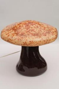 retro ceramic mushroom TV lamp mood light, large lighted ...
