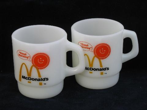 Retro Good Morning  McDonalds coffee mugs vintage Fire