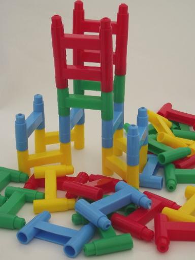 Slinky Towerifics Towerifics plastic building blocks toy
