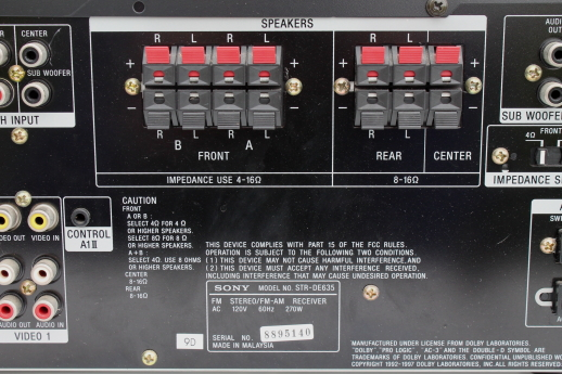 Sony digital audio  video control center Dolby cinema