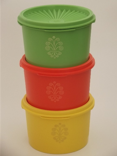 Unused vintage Tupperware canister containers green