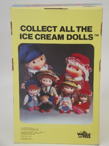 Vintage 1980 Ice Cream doll in original box boy doll w