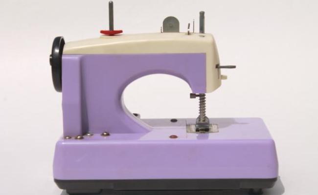 Vintage Japan Toy Sewing Machine In Lavender Purple
