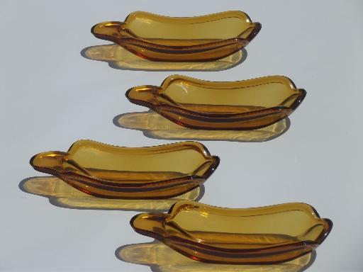 vintage amber glass banana