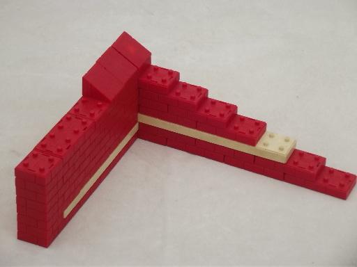 Vintage American Bricks prelego plastic building blocks