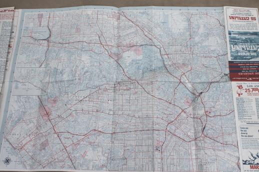 Vintage California road map lot San Francisco  Los