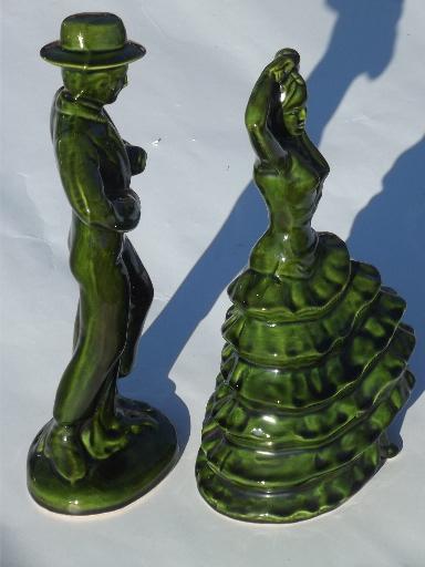 Vintage ceramic art Spanish flamenco dancers 50s 60s