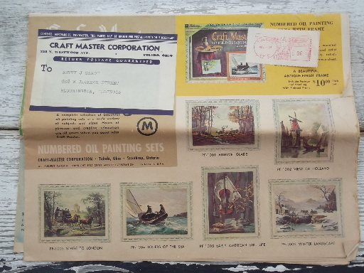 Vintage Craft Master Paint By Number Pictures Catalog For