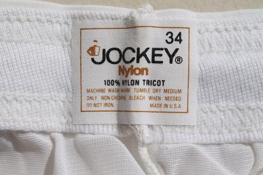Vintage Jockey Nylon Tricot Briefs Size 34 Undershorts
