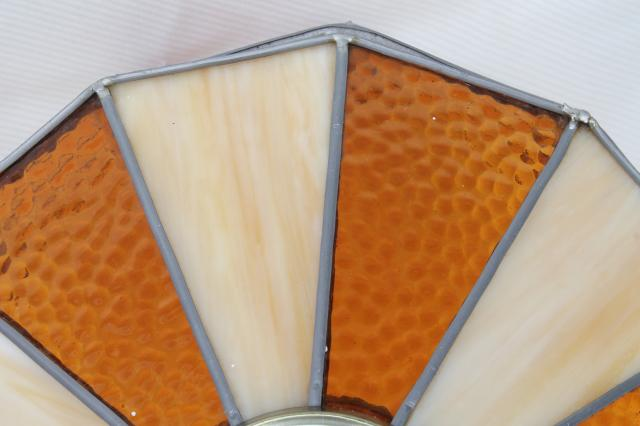 Wiring A Kitchen Light Fixture Vintage Leaded Glass Shade Light Fixture Amber Stained