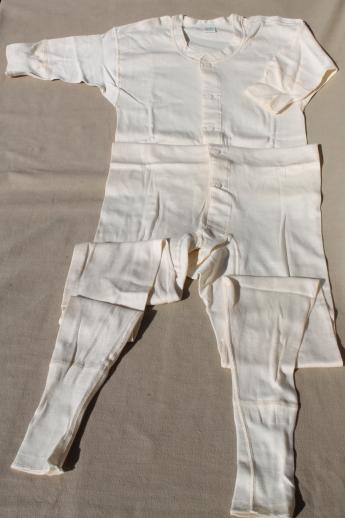 Vintage Munsingwear natural cotton union suits unworn