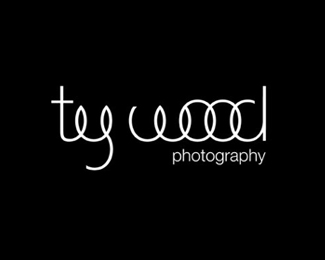 ty-wood typographic logo inspiration