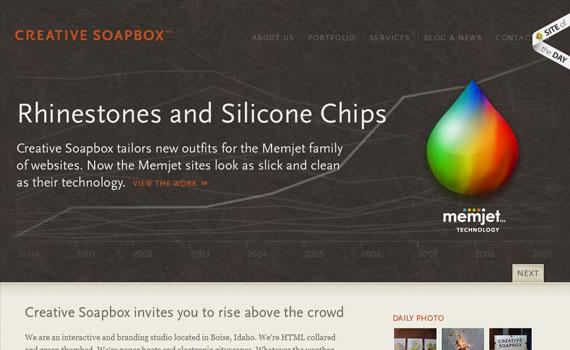 Creative-soapbox-looking-textured-websites