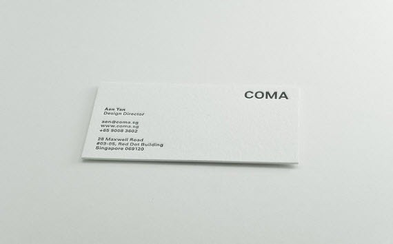 creative minimal business card design inspiration coma-minimal-business-cards
