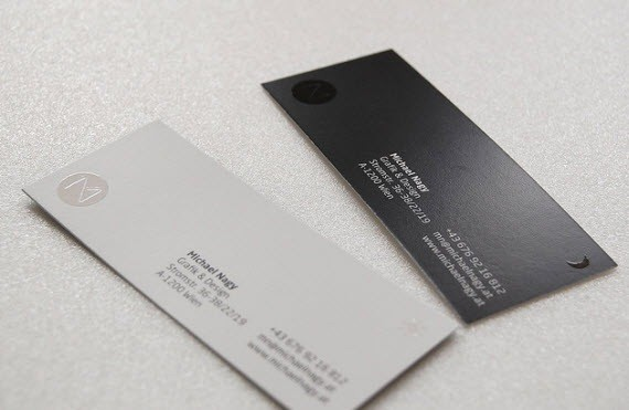 creative minimal business card design inspiration michealanglay-minimal-business-cards