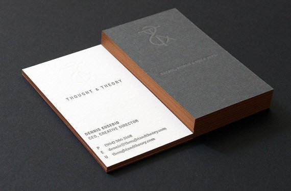 creative minimal business card design inspiration thought-minimal-business-cards