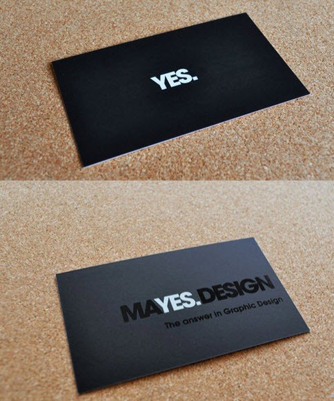 creative minimal business card design inspiration yes-minimal-business-cards