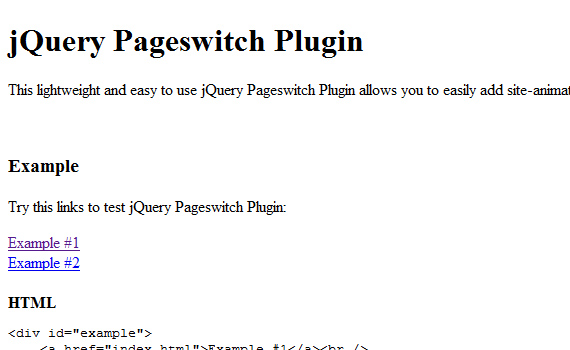 Pageswitch-jquery-navigation-menu-plugins