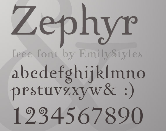 zephyr-free-high-quality-font-web-design