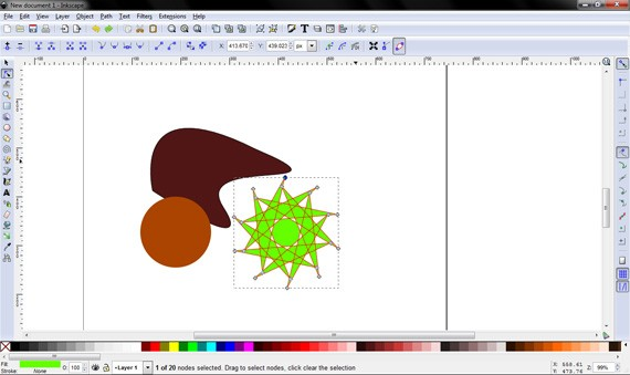 Inkscape screenshot