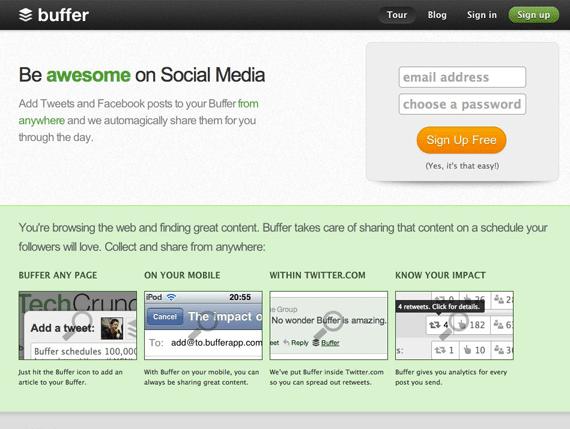 Bufferapp social media promotion tool