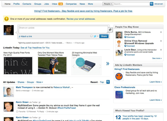 Linkedin social media promotion tool