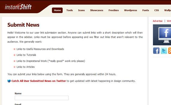 Instantshift-websites-promote-articles-social