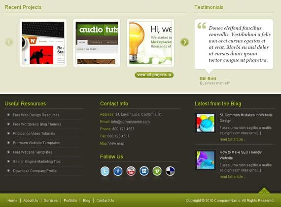 footer design inspiration Ultra web studio
