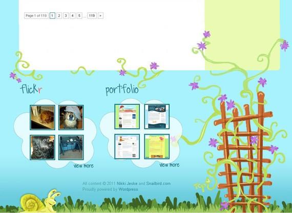 footer design inspiration Snailbird
