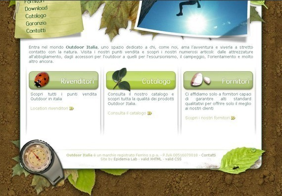 footer design inspiration Outdoor italia