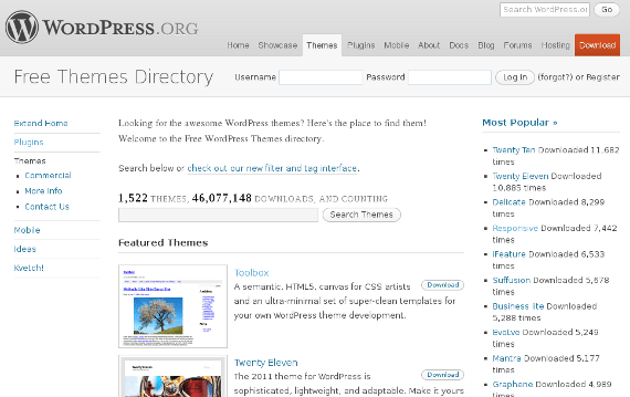 WP Theme Repo is an excellent place to look for free themes