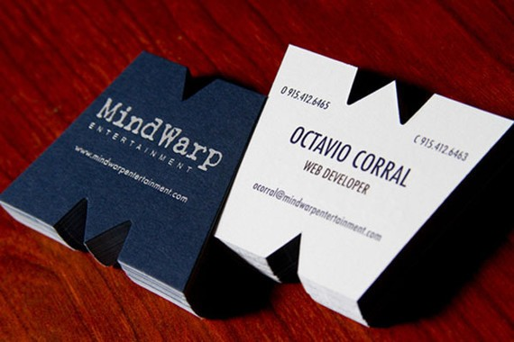 creative minimal business card design inspiration MindWarp Business Cards
