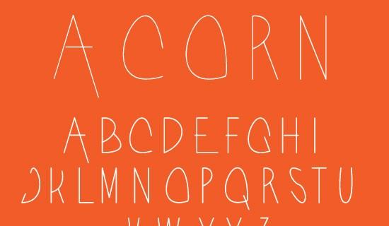 Acorn free fonts 2015