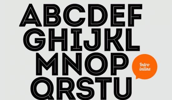 Intro free fonts 2015