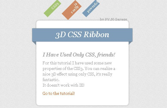 How To Create Depth And Nice 3D Ribbons Only Using CSS3
