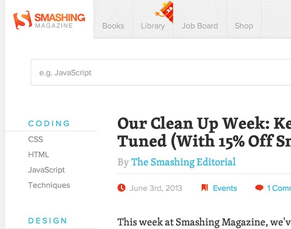 Smashingmagazine web design blog top blogs follow