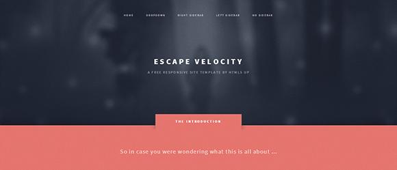 free responive web template html css Escape-Velocity