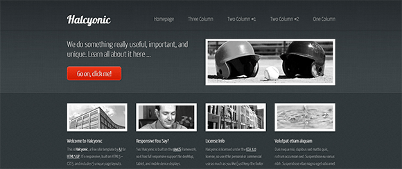 free responive web template html css Halcyonic