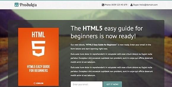 free responive web template html css Produkta