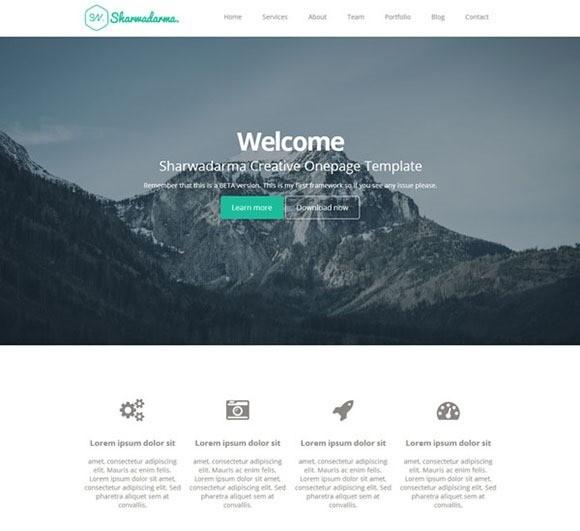 free responive web template html css Sharwadarma