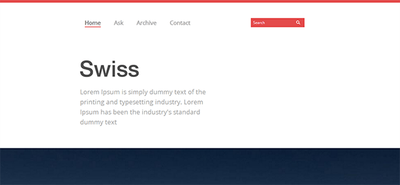 free responive web template html css Swiss