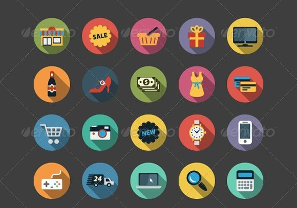 Shopping Flat Icons