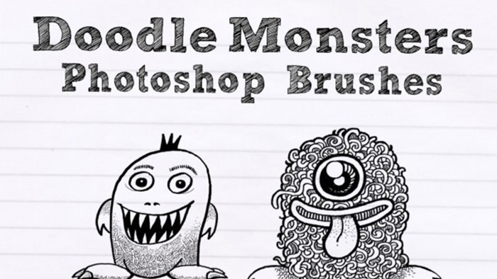 Doodle Monsters Brushes