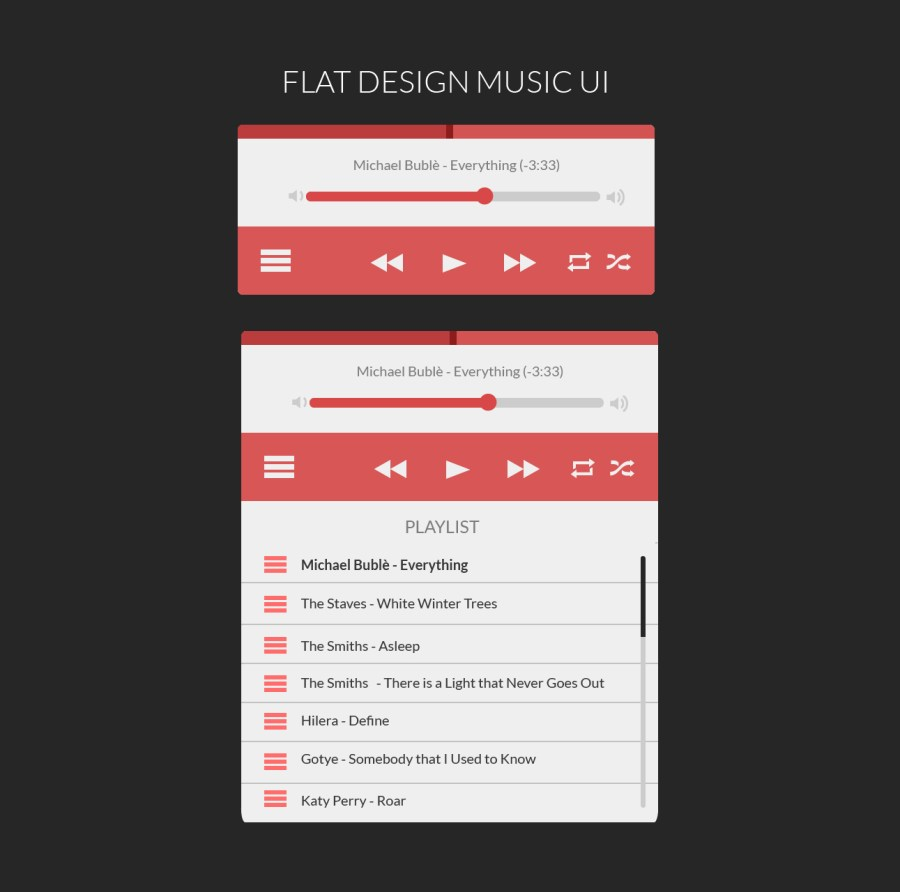 Music Player Ui