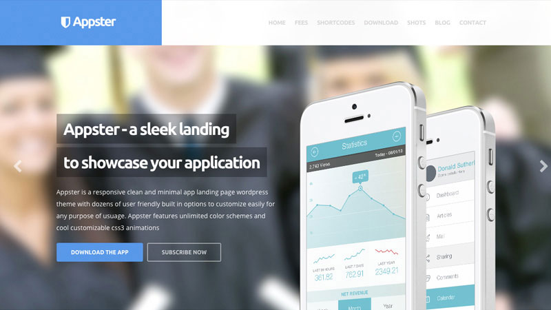 Appster is an elegant one page WordPress theme perfect for promoting your application.
